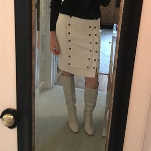 Zara off white boots size 41